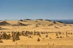 Berggipfel- und Strandwüste in Australien-Reise Lizenzfreie Stockfotografie