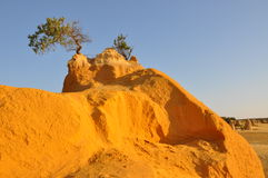 Berggipfel-Wüsten-Sand-Hügel-Nahaufnahme: West-Australien Stockbild