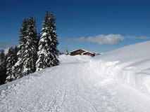 Berghaus Wispile, inverno Fotografia Stock
