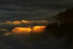 Berghav av moln Royaltyfria Foton
