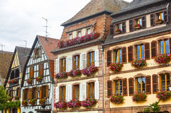 Bergheim (Alsace) - Houses Stock Photography