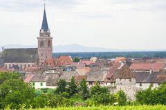 Bergheim (Alsace) - Panorama Royalty Free Stock Image
