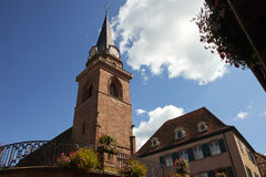 Bergheim Frankrike Arkivbild