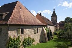 Bergheim Frankrike Arkivfoton