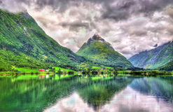 Bergheimsvatnet lake in Norway, Sogn og Fjordane county. Bergheimsvatnet lake in Norway - Sogn og Fjordane county Royalty Free Stock Photography