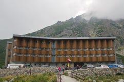 Berghotell i höga Tatra, Slovakien Arkivfoto