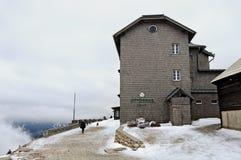 Berghut Ottohaus in de Alpen Lager Oostenrijk Royalty-vrije Stock Afbeeldingen
