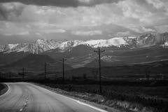 Berghuvudväg Arkivfoto