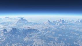 Bergig främmande planet Fotografering för Bildbyråer