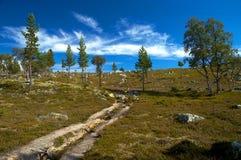 bergig liggande Fotografering för Bildbyråer