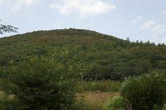 Bergig terrain Byn av Betta royaltyfri fotografi