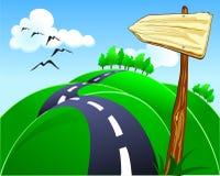 bergig väg stock illustrationer
