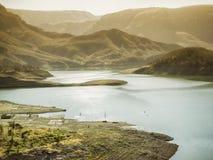 Bergiga landskap av kopparkanjonen, Chihuahua, Mexico royaltyfria foton