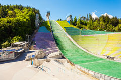 Bergisel Sprungschanze Stadion, Innsbruck. INNSBRUCK, AUSTRIA - MAY 22, 2017: The Bergisel Sprungschanze Stadion is a ski jumping hill stadium located in Royalty Free Stock Photography