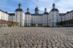 BERGISH GLADBACH, TYSKLAND - OKTOBER 12, 2015: Althoff Grandhotel Schloss Bensberg Fotografering för Bildbyråer