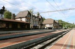 Bergjärnvägsstation Arkivbild
