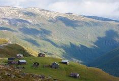 Bergkabin Fotografering för Bildbyråer
