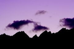 bergkant Royaltyfria Bilder