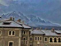 Bergkant - Carphatian-bergen stock foto