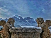 Bergkant - Carphatian-bergen stock fotografie