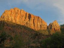 Bergkant i Zion National Park Arkivbild
