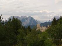 Bergkasteel stock afbeelding