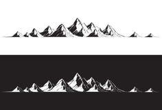 Bergketen Stock Afbeeldingen