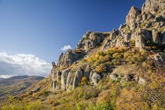 Bergketen Demerdzhi royalty-vrije stock foto's