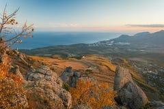 Bergketen Demerdzhi stock afbeeldingen
