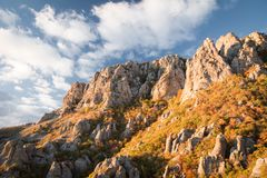 Bergketen Demerdzhi royalty-vrije stock afbeelding