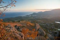 Bergketen Demerdzhi royalty-vrije stock foto