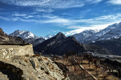 Bergketen en pieken Royalty-vrije Stock Afbeelding