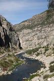 Bergketen en Rivier - Wyoming Royalty-vrije Stock Afbeeldingen