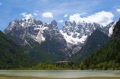 Bergketen in het dolomiet stock fotografie