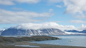 Bergketen in Hornsund, Svalbard Royalty-vrije Stock Afbeelding