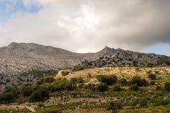 Bergketen Mallorca Stock Afbeeldingen