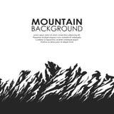 Bergketen op witte achtergrond Stock Foto