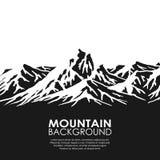 Bergketen op witte achtergrond Royalty-vrije Stock Fotografie