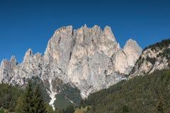 Bergketen Rosengarten, Dolomiet royalty-vrije stock foto's