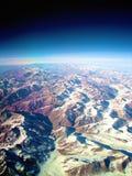 Bergketen van de Andes Stock Foto