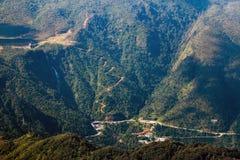 Bergketen van fansipan hoogste bergtop van indochina in sapa lao cai provincie noordelijk van Vietnam stock afbeelding