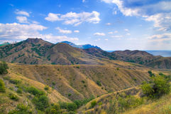 Bergketen van kara-Dag Stock Afbeeldingen