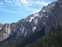 Bergketen in Yosemite stock afbeelding