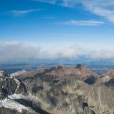 Bergketenlandschap Stock Foto