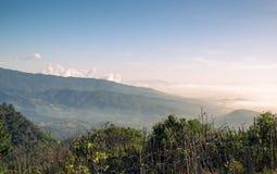 Bergketenlandschap in avond Royalty-vrije Stock Afbeelding