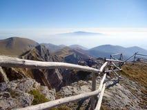 Bergketenlandschap in Griekenland Stock Foto