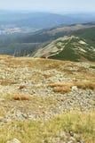 Bergketenlandschap - Karkonosze, Polen Stock Fotografie
