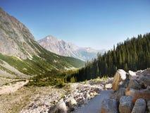 Bergketenlandschap, Rocky Mountains, Canada Stock Foto