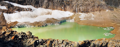 Bergketenlandschap, Rocky Mountains, Canada Stock Afbeeldingen