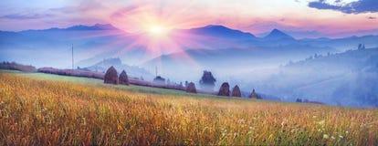 Bergketens van de Oekraïne Royalty-vrije Stock Fotografie